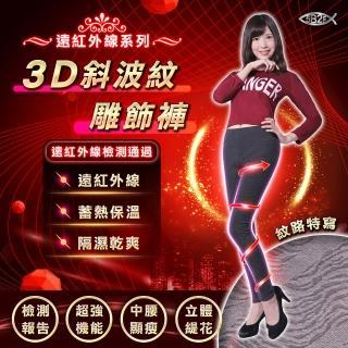 【5B2F 五餅二魚】遠紅外線3D斜波紋雕飾褲(遠紅外線檢測報告 更安心)