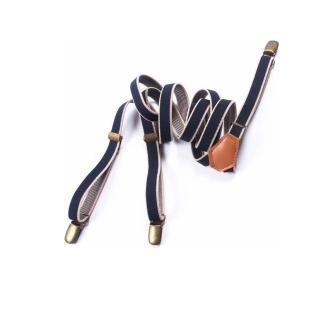 【拉福】三夾1.5cm皮質真皮亞當高質感西裝吊帶