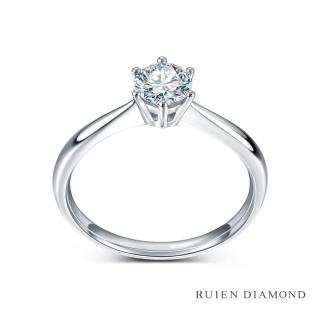 【RUIEN DIAMOND 瑞恩鑽石】GIA50分 D VS2 3EX(18K白金 典愛 鑽石婚戒)