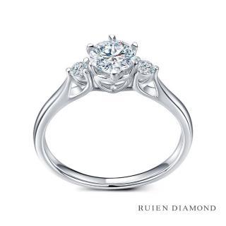 【RUIEN DIAMOND 瑞恩鑽石】GIA50分 D VVS1 3EX(18K白金 三世之約 鑽石婚戒)