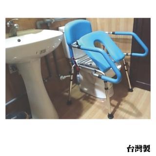 【感恩使者】方便推臀椅 ZHTW1755(移動馬桶椅/無輪 可當馬桶扶手/洗澡椅 需自行簡易組裝 台灣製)