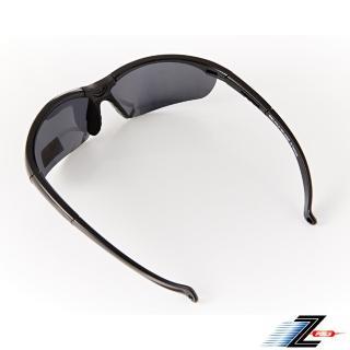 【Z-POLS】質感黑TR90太空纖維 輕量偏光抗UV400運動太陽眼鏡(矽膠材質 可調設計 Polarized偏光鏡)