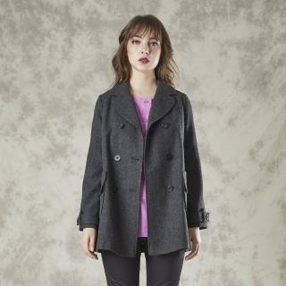 【FIORE 花蕾】時尚魔力精品羊毛外套