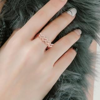 【梨花HaNA】韓國925銀波浪心跳聲音鑲鑽戒指