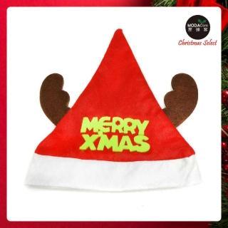 【摩達客】綠字麋鹿角聖誕帽(耶誕派對)