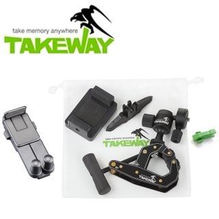 【台灣製造Takeway】T1鉗式腳架+T-TH01平板夾(鉗腳架萬用夾 平板座)