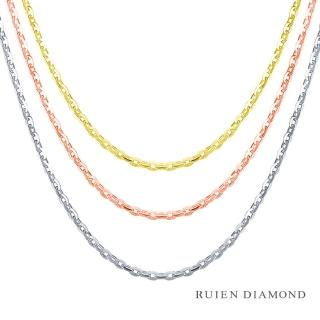 【RUIEN DIAMOND 瑞恩鑽石】16吋 義大利14K金 粗鍊 三選一(愛的鍊 KD01-1)