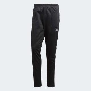 【adidas 愛迪達】長褲 BeckenBauer Track 男款 愛迪達 基本款 三葉草 窄版 秋冬穿搭 黑 白(CW1269)