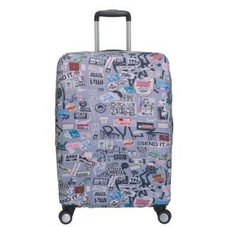 【OUTDOOR】行李箱保護套-塗鴉-M(ODS18B01MGY)