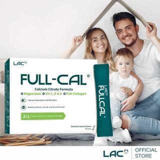 【GNC 健安喜】LAC Full-Cal優鎂鈣 60包/盒(德國檸檬酸鈣/溶在口中/鈣鎂黃金比例)