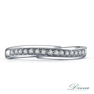 【DINA 蒂娜珠寶】『唯一之愛』真鑽造型線戒(14K天然真鑽)