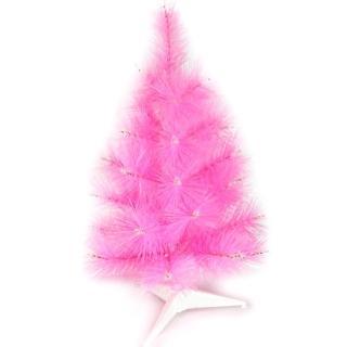 【摩達客】台灣製3尺/3呎90cm特級粉紅色松針葉聖誕樹裸樹(不含飾品/不含燈)