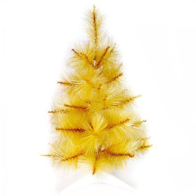 【摩達客】台灣製3尺/3呎90cm特級金色松針葉聖誕樹裸樹(不含飾品/不含燈)/
