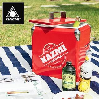 【KAZMI】酷樂彩色小冰箱13L(保鮮保冷、保冷桶、露營、野餐)