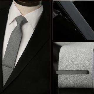 【拉福】領帶夾窄版領帶夾窄領夾霧面(4cm可選色)