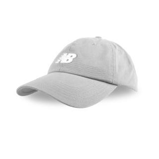 【NEW BALANCE】棒球帽-遮陽 防曬 鴨舌帽 棒球 NB 灰白(LAH91014SEL)