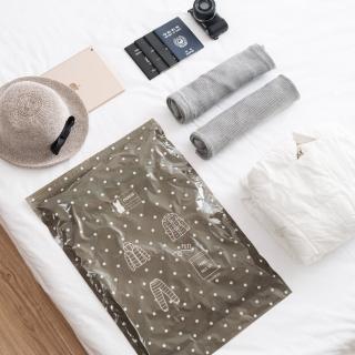 【TD樂活】簡約旅行手捲壓縮袋 旅行收納袋
