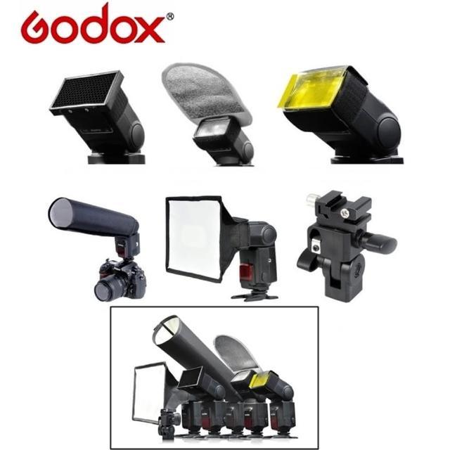 【Godox神牛】六合一6-in-1機頂閃光燈配件組SA-K6(蜂巢罩
