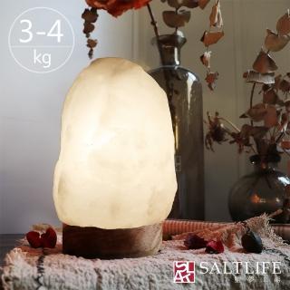 【鹽夢工場】天然精選白鹽燈-(4-6kg|特製座)