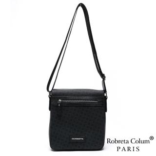 【Roberta Colum】尊爵雅士精品頭層牛皮斜背側背包