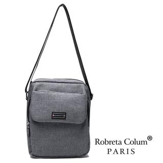 【Roberta Colum】型男嚴選防潑水側背斜背方包-共2色