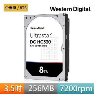 【Western Digital】Ultrastar DC HC320 8TB 3.5吋SATAIII 企業級硬(HUS728T8TALE6L4)