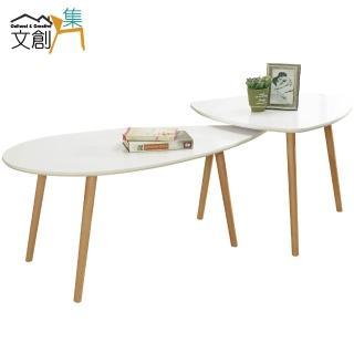 【文創集】卡亞蒂  時尚6尺木紋茶几組合(二色可選+大小茶几組合)