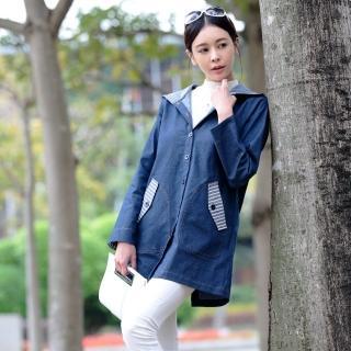 LiLiShow輕彈柔日本棉丹寧外套