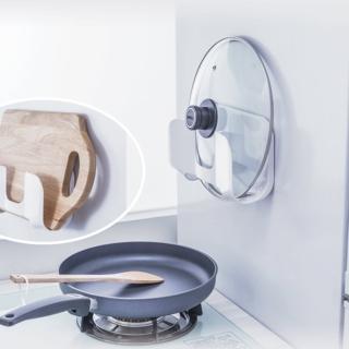 【3M】無痕防水收納-廚房鍋蓋砧板架 免釘免鑽