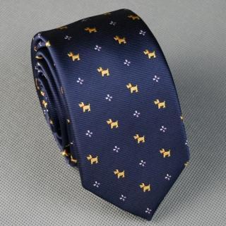【拉福】領帶窄版領帶6cm領帶拉鍊領帶(黃狗)