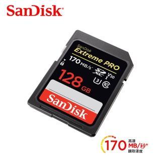 【SanDisk 晟碟】Extreme Pro 128G SDXC UHS-I記憶卡讀170MB 寫90MB(公司貨)