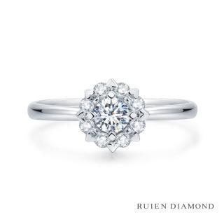 【RUIEN DIAMOND】GIA50分 D VS2 3EX(18K白金 鑽石戒指 戀愛紀II)