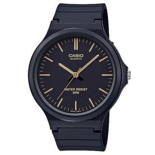 【CASIO】大錶面簡約文青休閒錶-金羅馬黑面(MW-240-1E2)