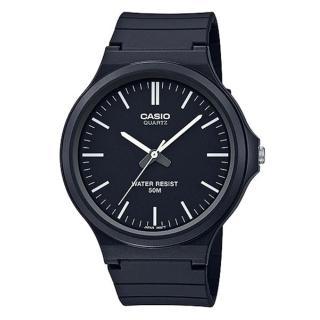 【CASIO 卡西歐】簡約指針休閒錶-羅馬黑面(MW-240-1E)