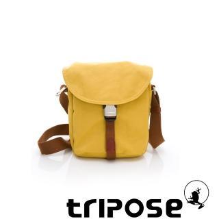 【tripose】MEMENTO系列微皺尼龍輕量防潑水郵差包(黃色)