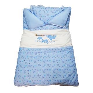 【孩子國】小海豚嬰兒睡袋+睡枕(台灣製造)