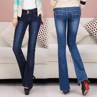 【RH】中腰褲頭纖細顯瘦小喇叭牛仔褲(乙經典小喇叭全尺碼26-32最新到貨)