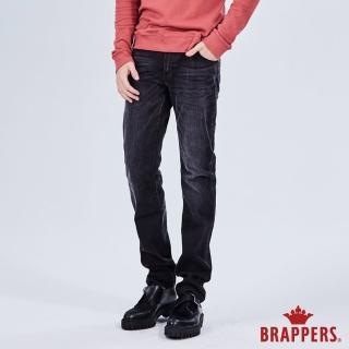 【BRAPPERS】男款 HM-中腰系列-彈性中腰直筒褲(黑)