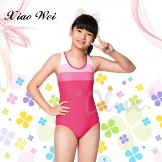 【Apple蘋果牌】時尚女童三角連身泳裝(NO.106610)