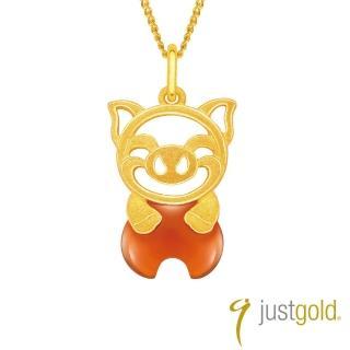 【Just Gold 鎮金店】吉祥寶寶十二生肖純金系列 黃金墜子-豬