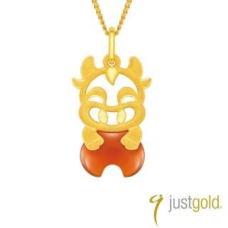 【Just Gold 鎮金店】吉祥寶寶十二生肖純金系列 黃金墜子-牛