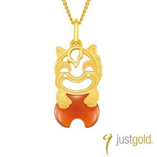 【Just Gold 鎮金店】吉祥寶寶十二生肖純金系列 黃金墜子-馬