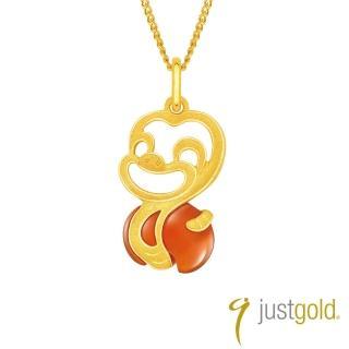 【Just Gold 鎮金店】吉祥寶寶十二生肖純金系列 黃金墜子-蛇
