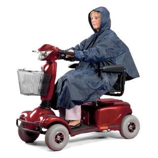 【感恩使者】電動代步車用雨衣 ZHCN1735-斗篷式/有袖(銀髮族 行動不便者使用)