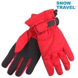 【SNOWTRAVEL】英國進口PORELLE防水保暖透氣薄手套AR-52紅色(滑雪/騎車/戶外/雨天)