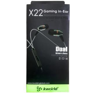 【Kworld 廣寰】入耳式電競耳麥 X22