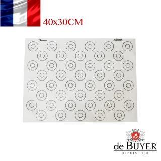 【de Buyer 畢耶】馬卡龍專用不沾材質矽膠烘焙墊(40x30cm)