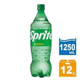 【Sprite 雪碧】寶特瓶1.25L-12入