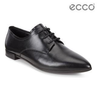 【ecco】ECCO SHAPE POINTY BALLERINA 復古尖頭平底正裝鞋 女(黑 26942301001)
