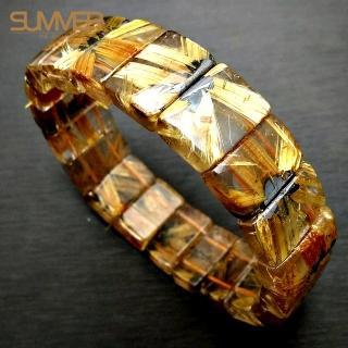【SUMMER寶石】5A 鈦晶花手排 50-60g(隨機出貨)